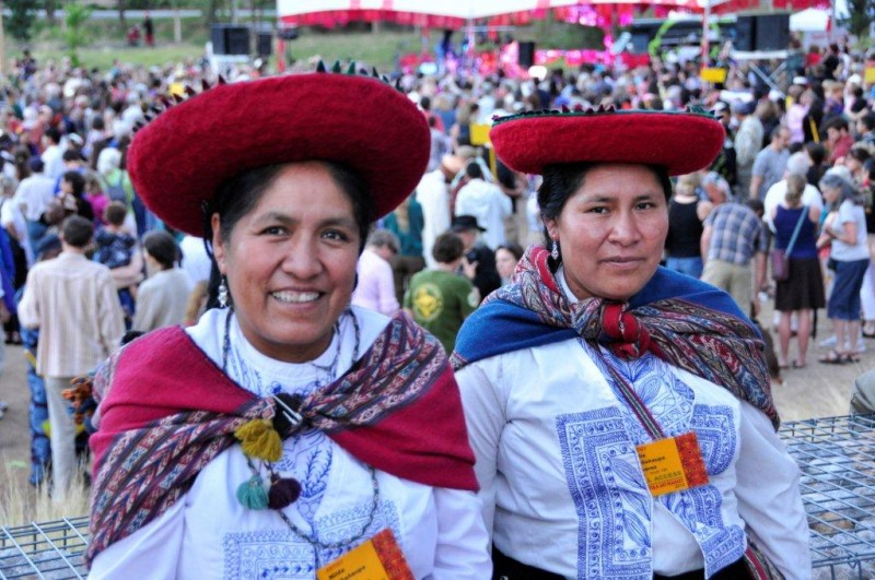 Nilda Callañaupa Alvarez, Founder and Director of Center for Traditional Textiles Cusco with Lidia Callañaupa Alvarez.