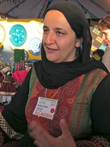 Rangina Hadimi, founder of Kandahar Treasures, at Folk Art Market.
