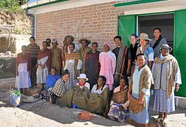 The weavers and spinners from Federation Sahalandy, Madagascar.