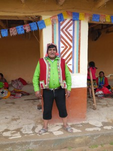 Rigoberto, the president of the Sallac weaving community.