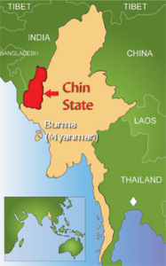Chin State is in a sector of Myanmar.