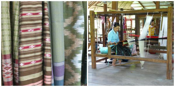 Laos Textiles and Weaver