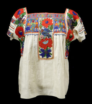 China poblana blouse, 1935. Mexico cotton, glass beads.